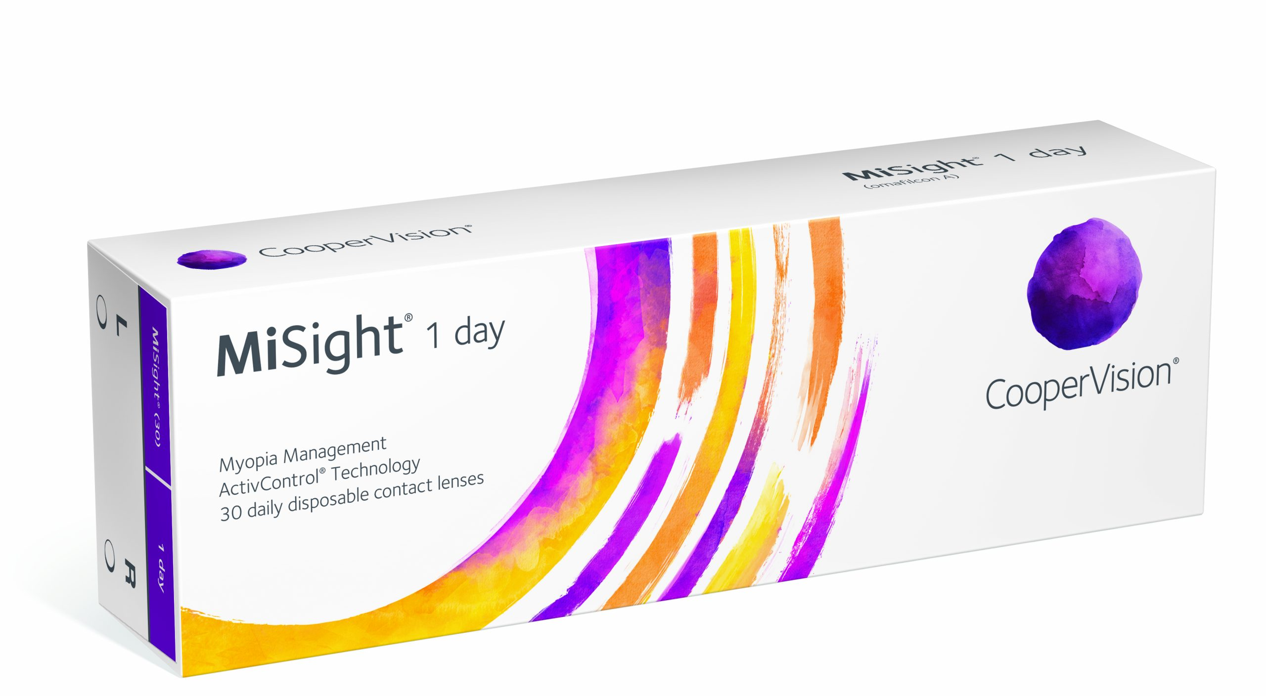 A box of 30 pack disposable MiSight Contact Lenses